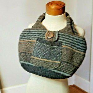 Artisan Wool Rag Bags  purse OOAK